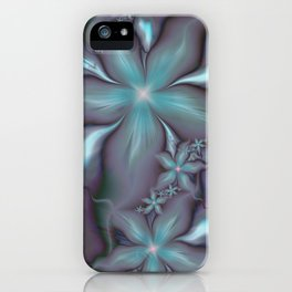 Aquafleur Fractal iPhone Case
