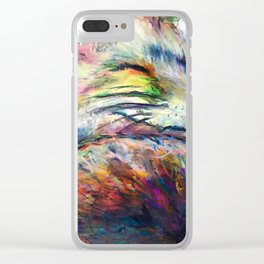 Dreaming of things to come Clear iPhone Case