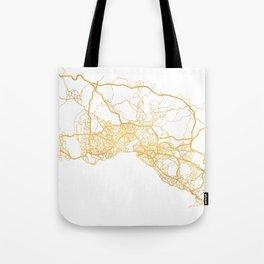 ISTANBUL TURKEY CITY STREET MAP ART Tote Bag