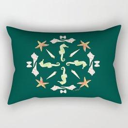 Seahorse Mandala - Watercolor Rectangular Pillow