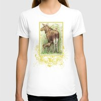 elk T-shirts featuring Elk by Natalie Berman