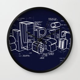 Blueprint Wall Clock