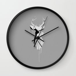 Deer Head V (Brooklyn Bridge) Wall Clock