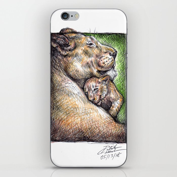 Lioness and Cub iPhone Skin