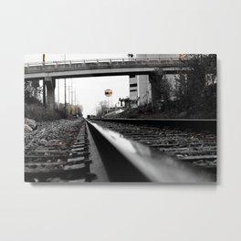 Train Tracks & Bridge Metal Print
