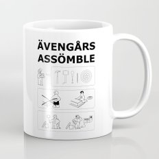 Superheroes Assembling - Black & White Mug