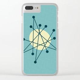 1950s atomic design Clear iPhone Case