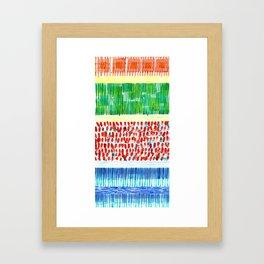 Joyful Stacked Patterns in High Format Framed Art Print