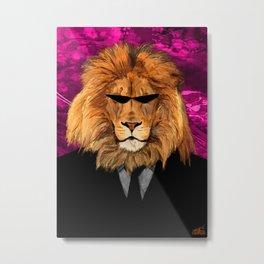 Lion Suit Metal Print
