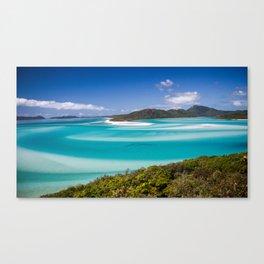 Blue Paradise Whitehaven Beach the Whitsunday Islands Canvas Print