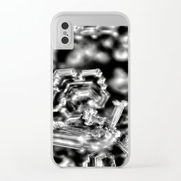 Dark side of snowflakes Clear iPhone Case