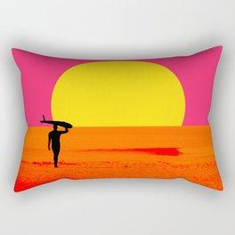 Malibu Surfer Rectangular Pillow
