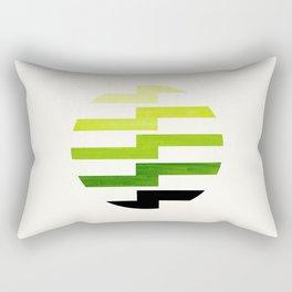 Minimalist Mid Century Circle Frame Sap Green Zig Zag Colorful Lightning Bolt Geometric Pattern Rectangular Pillow