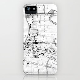 Vintage Map of Coney Island (1879) iPhone Case