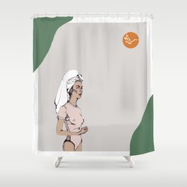 Tanned in Italy Shower Curtain
