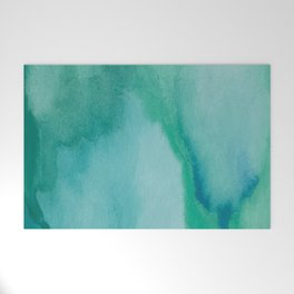 Shades of Green Watercolor Welcome Mat