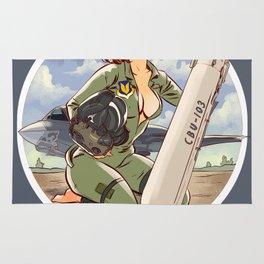 Barbara, Air Force Jet Fighter Pilot Rug