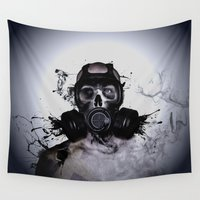 warrior Wall Tapestries featuring Zombie Warrior by Nicklas Gustafsson