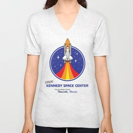 Dave Kennedy Space Center by Ryan Webert Unisex V-Neck