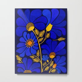 Wildflower Garden Metal Print