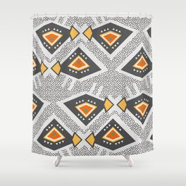 Dotted Ethnic Pattern Shower Curtain