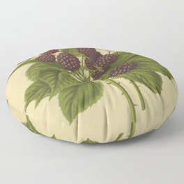 Botanical Blackberries Floor Pillow