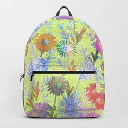 Gillian Floral Lime Backpack
