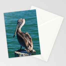 Pelican On A Pole Stationery Cards