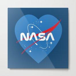 NASA Love Metal Print