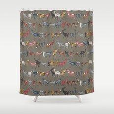mushroom spice deer Shower Curtain