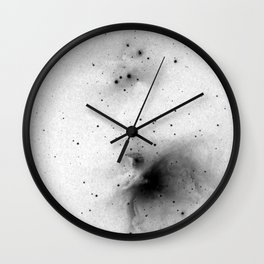 Negative Orion Nebula Wall Clock