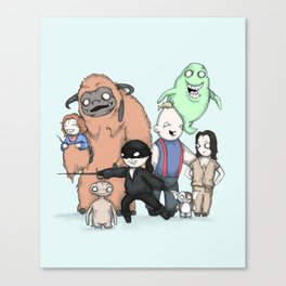 Retro Childhood Canvas Print
