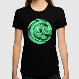 Swirl Circle (green) T-shirt