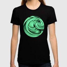 Swirl Circle (green) T-shirt