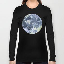Full Moon Watercolor Long Sleeve T-shirt