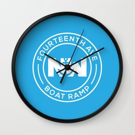 14th Ave NW Boat Ramp Wall Clock