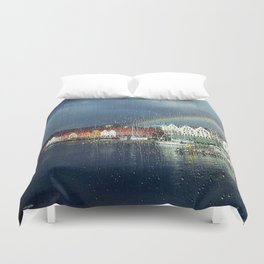 You Can't Have A Rainbow Without A Little Rain Duvet Cover