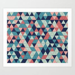 mosaique de triangle Art Print
