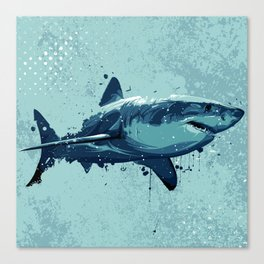 Guppy | Great White Shark Canvas Print