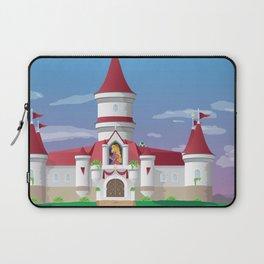 Peach's Castle (Super Mario) Travel Poster Laptop Sleeve