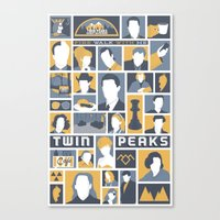 twin peaks Canvas Prints featuring Twin Peaks by Bill Pyle