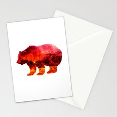 Bear on Desert Stationery Cards