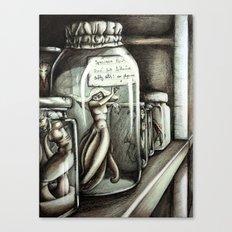 Specimen Jars Canvas Print