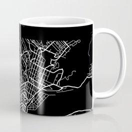 Dunedin, New Zealand Street Map Coffee Mug