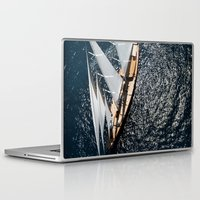 sailboat Laptop & iPad Skins featuring sailboat by laika in cosmos