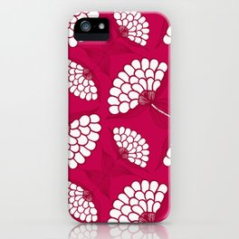 African Floral Motif on Magenta iPhone Case