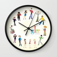 glee Wall Clocks featuring Glee by Tunasammiches