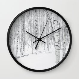 Swedish Birch Trees Wall Clock