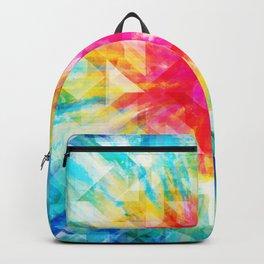 GEOMETRIC TIE DYE (Rainbow, Multi color) Backpack