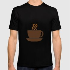 Hot Drinks Available. Mens Fitted Tee Black MEDIUM